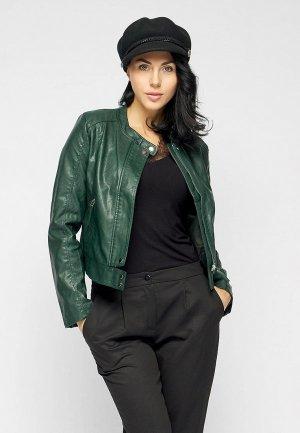 Куртка кожаная Bellart. Цвет: зеленый