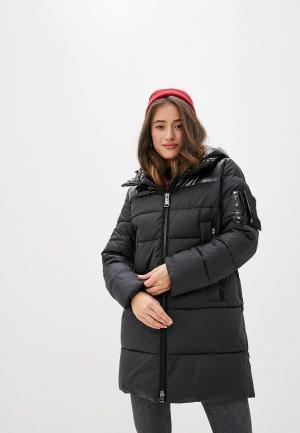 Куртка утепленная Clasna. Цвет: черный