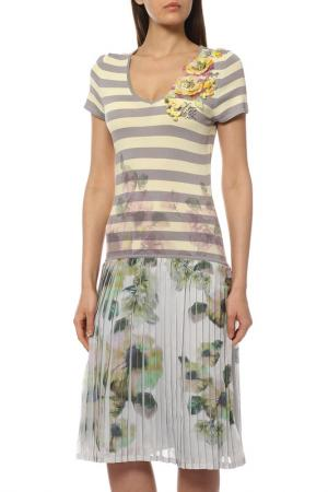 Платье Philippe Carat. Цвет: желтый, серый