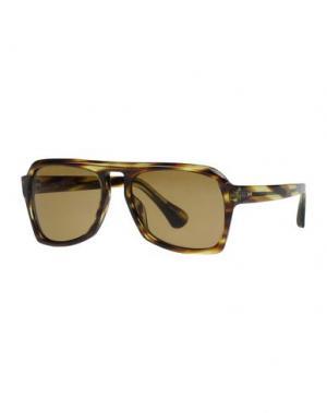 Солнечные очки DRIES VAN NOTEN. Цвет: темно-зеленый