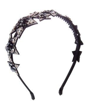 Ободок STELLINA UNI черный+черный Marina Fossati. Цвет: черный+черный