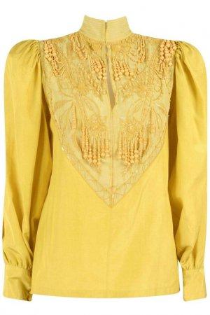 Блуза Dries Van Noten. Цвет: желтый