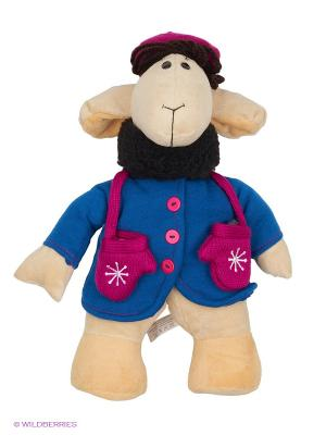 Мягкая игрушка Овечка Фантазерка Fluffy Family. Цвет: бежевый, синий, сиреневый, черный