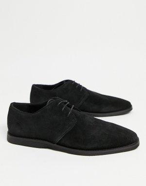 Черные замшевые дерби -Черный цвет ASOS DESIGN