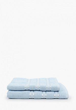 Набор полотенец Эго 2 шт, 50х85 см, 70х135 см. Цвет: голубой