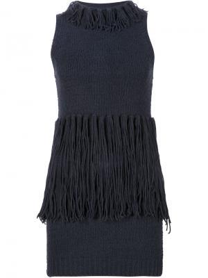 Платье-майка с бахромой 3.1 Phillip Lim. Цвет: синий