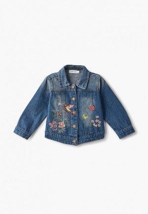 Куртка джинсовая Moon River. Цвет: голубой