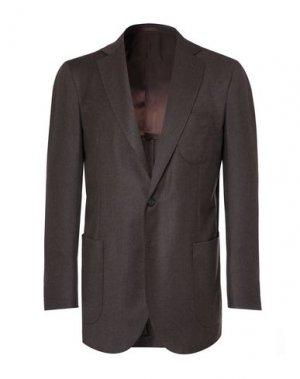 Пиджак P.JOHNSON. Цвет: темно-коричневый