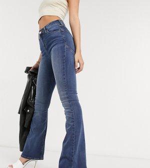 Моделирующие расклешенные джинсы ASOS DESIGN Petite hourglass-Синий