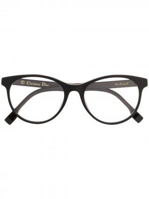Очки Dior Etôile в круглой оправе Eyewear. Цвет: черный