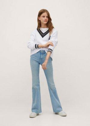 Пуловер из хлопка - Sorrentp Mango. Цвет: грязно-белый