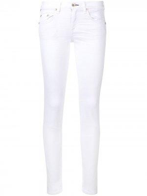 Укороченные джинсы скинни Rag & Bone. Цвет: aged bright white