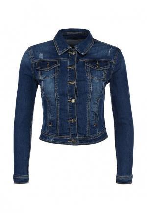 Куртка джинсовая Savage. Цвет: синий