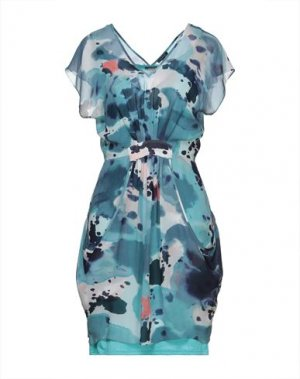 Короткое платье FULL CIRCLE. Цвет: темно-синий