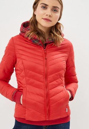 Куртка утепленная Only. Цвет: красный