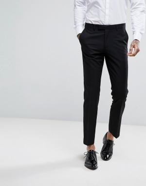 Облегающие брюки под смокинг Moss London BROS. Цвет: черный