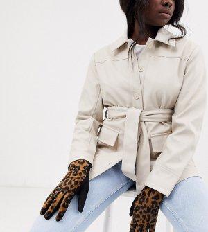 Трикотажные перчатки для сенсорных экранов с леопардовым принтом London-Мульти My Accessories