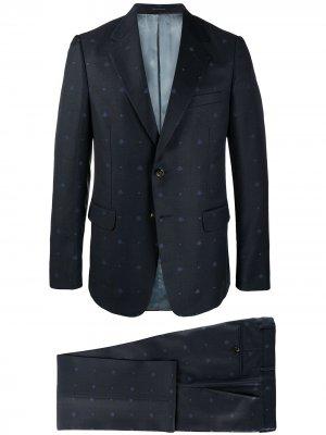 Костюм с однобортным пиджаком Gucci. Цвет: синий