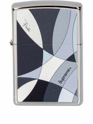 Зажигалка Zippo из коллаборации с Emilio Pucci Supreme. Цвет: черный