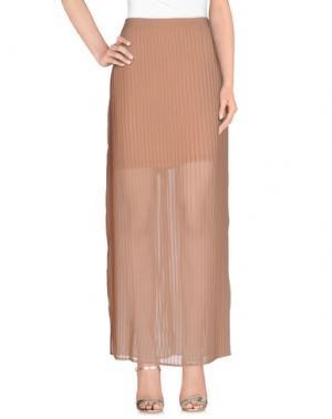Длинная юбка DEPT. Цвет: телесный