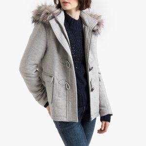 Пальто-дафлкот LaRedoute. Цвет: серый