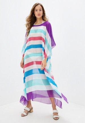 Платье пляжное Donatello Viorano. Цвет: разноцветный