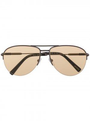 Солнцезащитные очки-авиаторы Chopard Eyewear. Цвет: черный