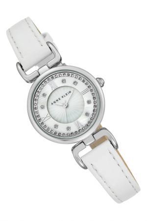Часы наручные Anne Klein. Цвет: белый, серебряный