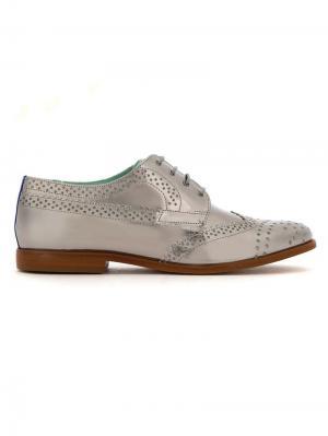 Leather oxfords Blue Bird Shoes. Цвет: серый
