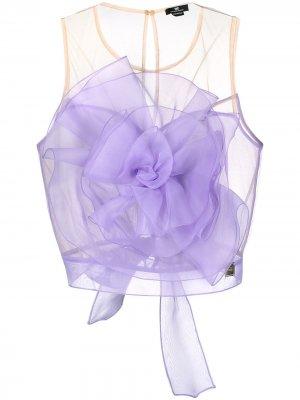 Декорированный топ Elisabette Elisabetta Franchi. Цвет: фиолетовый