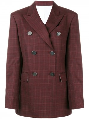 Tartan double-breasted blazer Calvin Klein 205W39nyc. Цвет: красный