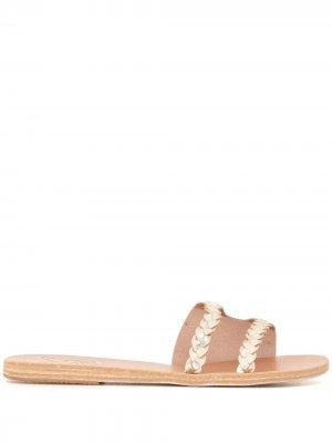 Сандалии с плетеными ремешками Ancient Greek Sandals. Цвет: серебристый
