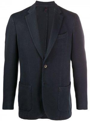 Delloglio однобортный пиджак Dell'oglio. Цвет: синий