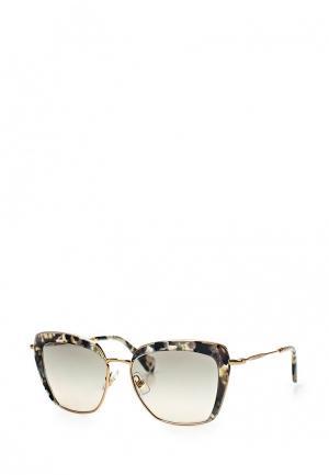 Очки солнцезащитные Miu MU 52QS DHE3H2. Цвет: золотой