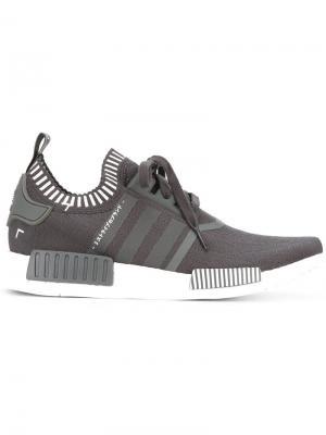 Кроссовки NMD_R1 PK adidas. Цвет: серый
