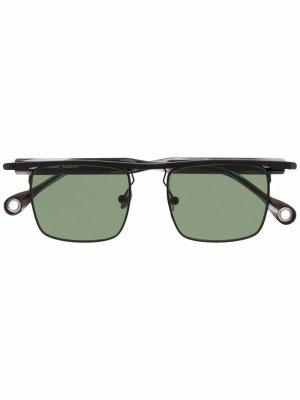 Солнцезащитные очки Karma в квадратной оправе Etudes. Цвет: черный