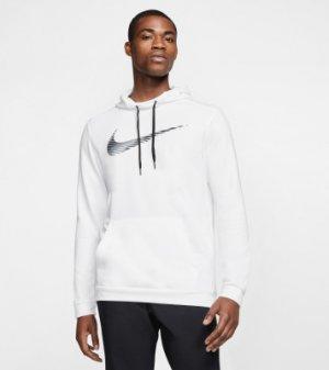 Худи мужская Dri-FIT, размер 46-48 Nike. Цвет: белый