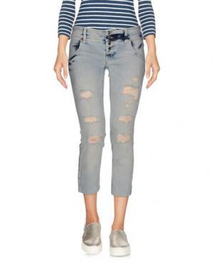 Джинсовые брюки-капри SEXY WOMAN. Цвет: синий