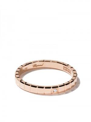 Кольцо Ice Cube Pure из розового золота с бриллиантом Chopard. Цвет: fairmined розовый