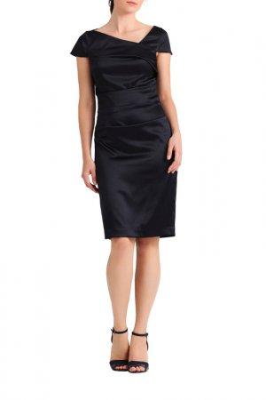 Сатиновое платье Apart. Цвет: темно-синий