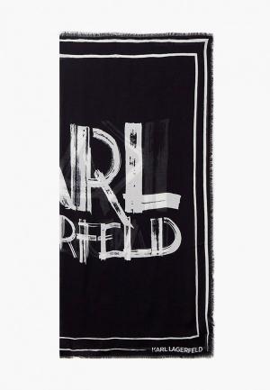Платок Karl Lagerfeld IKONIK. Цвет: черный