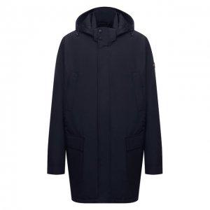 Утепленное пальто Paul&Shark. Цвет: синий