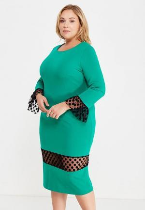 Платье Лярго. Цвет: зеленый