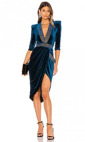 Платье миди eye of horus Zhivago. Цвет: синий