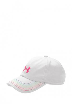 Бейсболка Under Armour Girls Twisted Renegade Cap. Цвет: белый