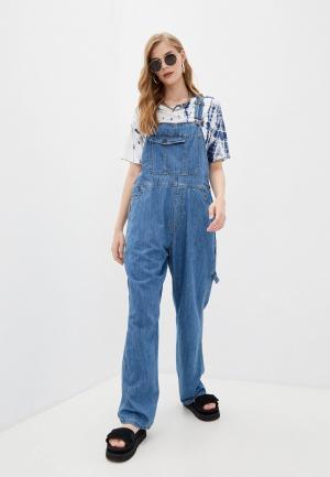 Комбинезон джинсовый One Teaspoon. Цвет: синий