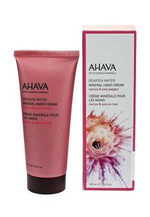 Крем для рук Ahava Deadsea Water Минеральный кактус и розовый перец 100 мл