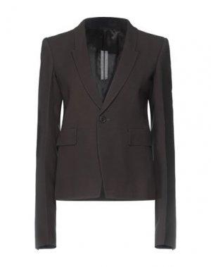 Пиджак RICK OWENS. Цвет: темно-коричневый