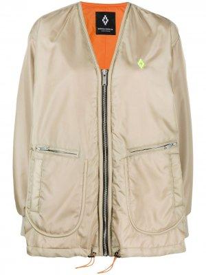 Куртка-бомбер с принтом Marcelo Burlon County of Milan. Цвет: нейтральные цвета