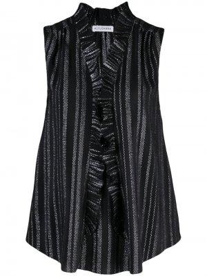 Полосатая блузка без рукавов Altuzarra. Цвет: черный